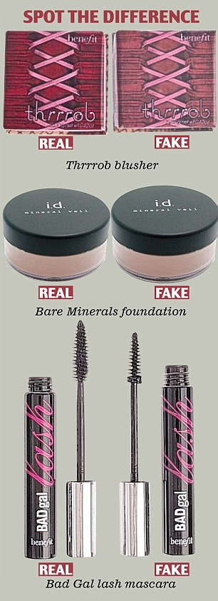 counterfeit make up and perfume fake bare minerals from ebay